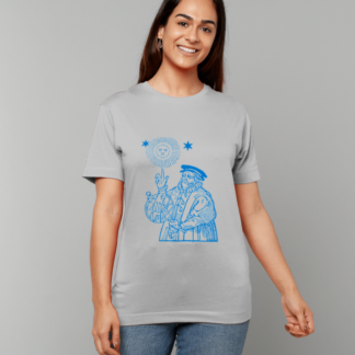 The Old Astronomer T-shirt - blue on grey