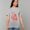 The Old Astronomer T-shirt - red on grey