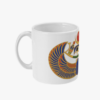 Egyptian scarab mug side view