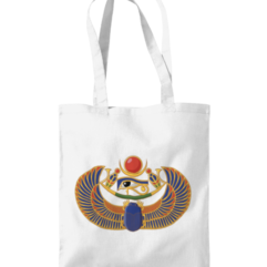 Egyptian scarab shopping bag