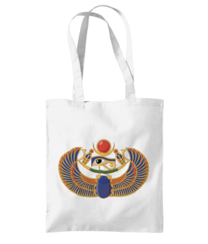 Egyptian scarab shopping bag