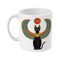 Egyptian Bastet mug side view
