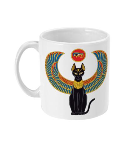 Egyptian Bastet mug side view
