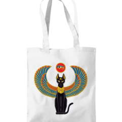 Egyptian Bastet tote bag
