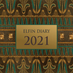 Cover of 2021 softback Elfin Diary